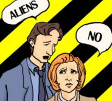 cliffs notes on the x-files Sticker