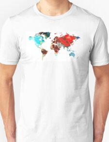 Map of The World 5 -Colorful Abstract Art T-Shirt