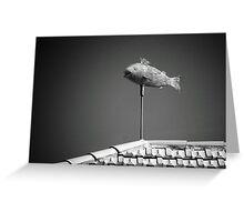 Flying fish. Greeting Card