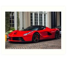 Ferrari LaFerrari In Red Art Print