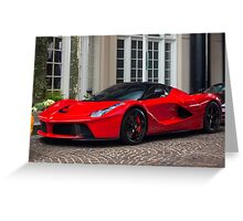Ferrari LaFerrari In Red Greeting Card