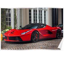 Ferrari LaFerrari In Red Poster