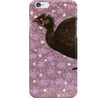 African Guinea Fowl Against Patterned Background iPhone Case/Skin