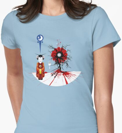 Quantum Flower Womens Fitted T-Shirt