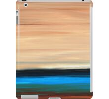 Perfect Calm - Abstract Earth Tone Landscape Blue iPad Case/Skin