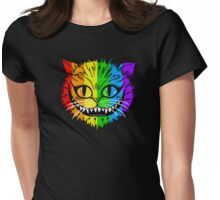 Rainbow Cheshire Cat Womens Fitted T-Shirt