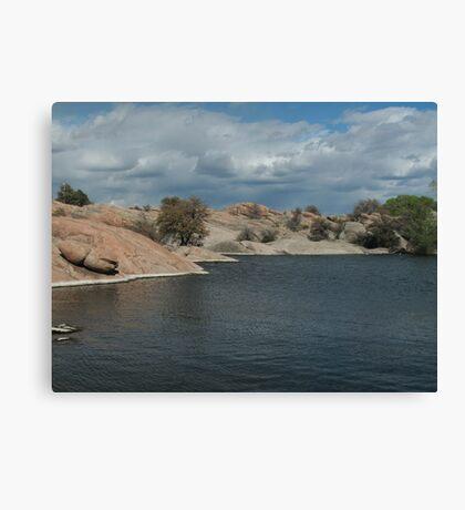 Water Line- Willow Lake, AZ Canvas Print