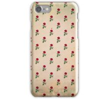 Vintage Tropical Hibiscus Pattern iPhone Case/Skin