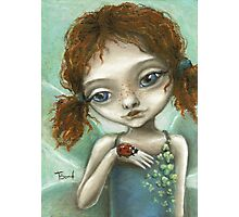 Irish Pixie - beautiful little fairy and a ladybird  Photographic Print