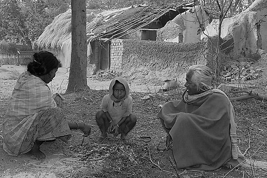 Three Generations of Santhal Tribals by Mukesh Srivastava