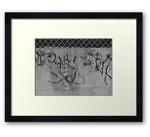Calligraphic Wall Framed Print