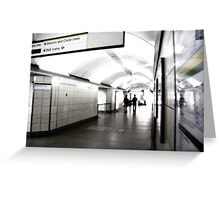 London Underground Greeting Card