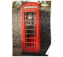North Norfolk phone box Poster