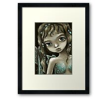 Little mermaid - fantasy painting by Tanya Bond Framed Print