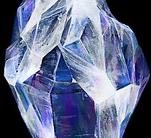 Blue Crystal (Black Background) by ProjectMayhem