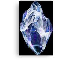 Blue Crystal (Black Background) Canvas Print