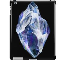 Blue Crystal (Black Background) iPad Case/Skin