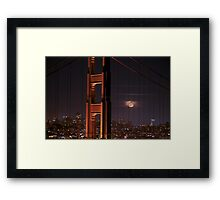The Moon and The Bridge Framed Print