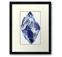 Blue Crystal Framed Print