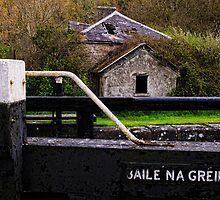 the lock keeper's cottage, Baile na Greine lock, the Barrow Navigation, County Carlow, Ireland. by Andrew Jones