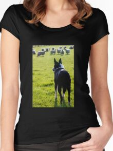 Working Collie Women's Fitted Scoop T-Shirt