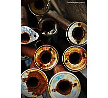 Rusty Pipes Photographic Print