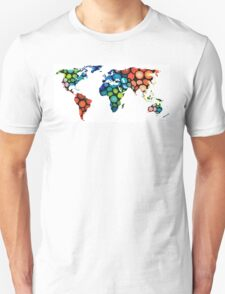 Map of The World 1 -Colorful Abstract Art T-Shirt