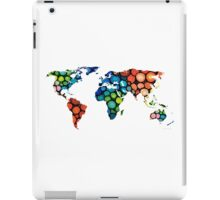 Map of The World 1 -Colorful Abstract Art iPad Case/Skin