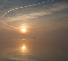 Sunrise & Vapour trails by ShawnsPhotos