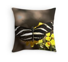 Zebra Longwing-2 Throw Pillow