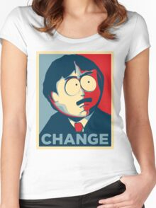 South Park Change  Women's Fitted Scoop T-Shirt