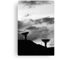 Communications in Black and White Canvas Print