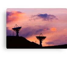 Dishy Sunset Canvas Print