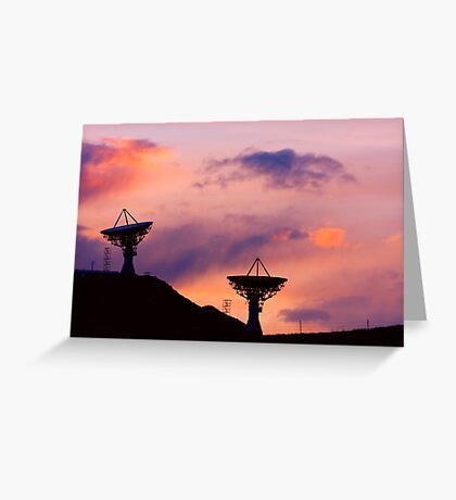 Dishy Sunset Greeting Card
