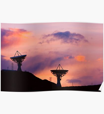 Dishy Sunset Poster