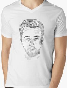 Edward Norton Mens V-Neck T-Shirt