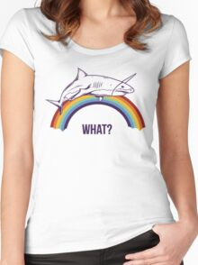 Rainbow Shark Women's Fitted Scoop T-Shirt