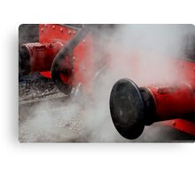 Locomotive bumpers in Steam Canvas Print