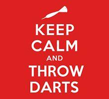 Keep Calm and Throw Darts Unisex T-Shirt