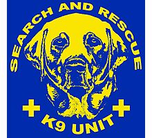 Search and rescue K9 unit yellow Photographic Print