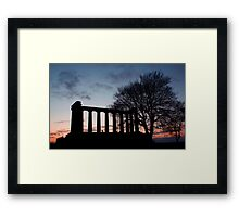 Sunset Over Calton Hill Framed Print