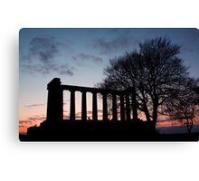 Sunset Over Calton Hill Canvas Print