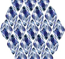 Blue Crystals Pattern by ProjectMayhem