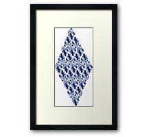 Blue Crystals Pattern Framed Print