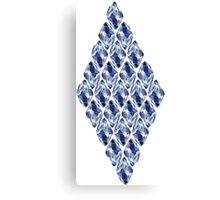 Blue Crystals Pattern Canvas Print