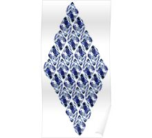 Blue Crystals Pattern Poster