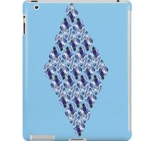 Blue Crystals Pattern iPad Case/Skin
