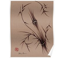 """As One""  Original brush pen sumi-e bamboo drawing/painting Poster"
