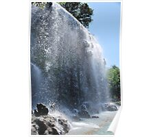 Waterfall in Nice, French Riviera Poster