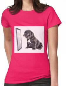 Facetime Frenchie Womens Fitted T-Shirt